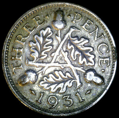 Great Britain 1931, 3 Pence KM# 831 {Silver}
