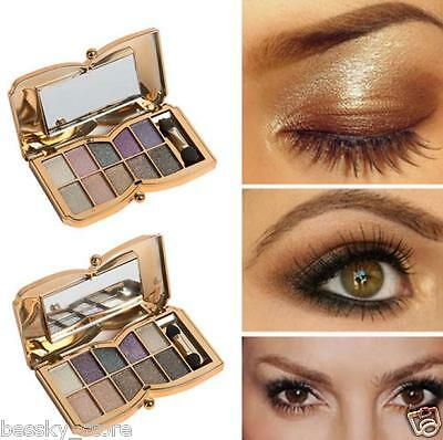 10 Colors Shimmer Eyeshadow Eye Shadow Palette Makeup Cosmetic Eyeshadow Brush L