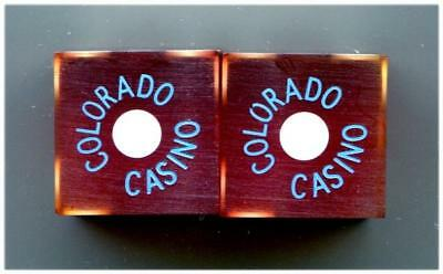 Laughlin Nv COLORADO Casino Dice 1978 Matching Numbers Cancelled