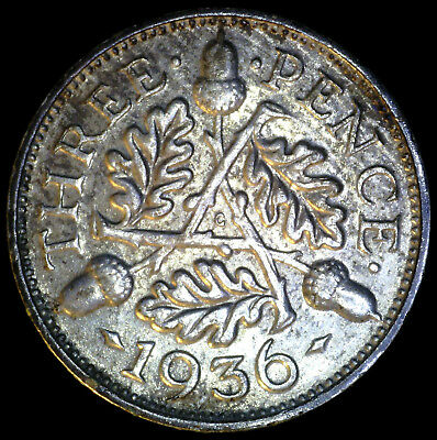 Great Britain 1936, 3 Pence KM# 831 {Silver}