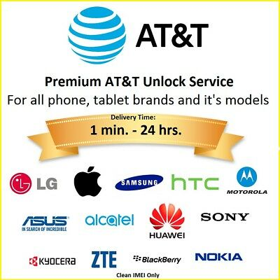Premium Factory Unlock Service for all AT&T Brands, Models IPHONE, SAMSUNG, HTC