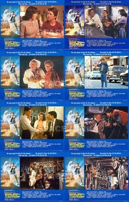 BACK TO THE FUTURE PART (1985) U.S. Lobby Cards Set of 8 (8 x 10 Inches)