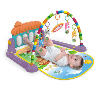Baby Gym Play Mat Lay &Play 3 in 1 Fitness Music Fun Piano For Kids Boy Girl