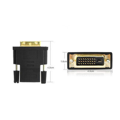 HDMI To DVI 24+1 Gold Connector Adapter Female To Male 1080P HDTV Converter New