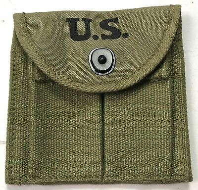 Wwii M1 Carbine Rifle 15Rd Butt Stock Ammo Pouch-Od#9