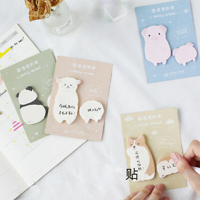 1X Cute Fat little animal weekly plan Sticky Notes Post Memo Pad School Supplies