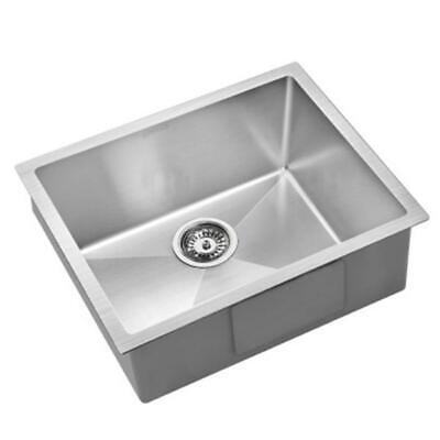 540X440Mm Stainless Steel Kitchen Laundry Sink Single Bowl Nano