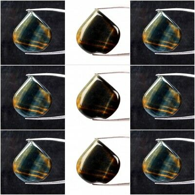 Natural Black Tiger's Eye Heart Cabochon Loose Gemstone In Wholesale Rate