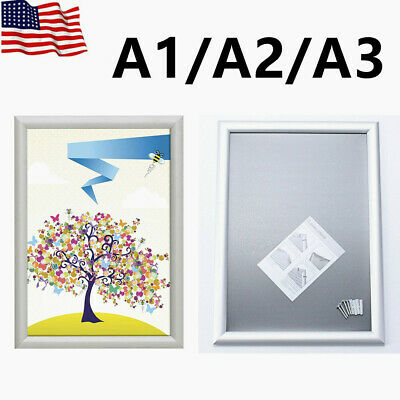 A1/A2/A3 Silver Poster Frame ,Wall Mounted Aluminum Profile Snap