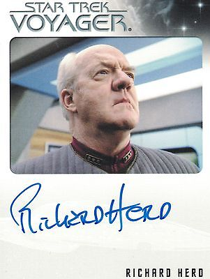 Star Trek Voyager Quotable (2012): Richard Herd autograph