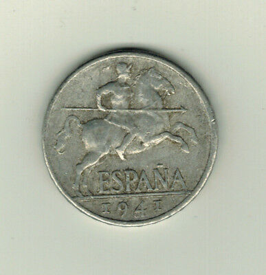 10 DIEZ Cents 1941 Spain Spanien Coin ESPANA  Münze PROVISIONAL GOVERNMENT