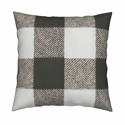 a8b2cd1914d Buffalo Check Wool Rustic Luxe Throw Pillow Cover w Optional Insert by  Roostery
