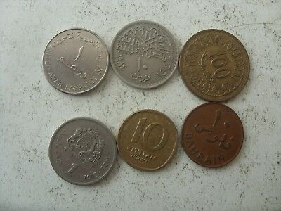 2 Lot Of 6 Middle  East Coins (Egypt,morocco ,bahrain )May Be Some Rare