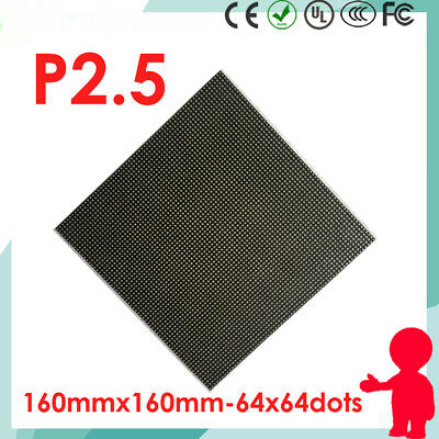 50pcs P2.5 led matrix module panel indoor rgb 64x64 dots pixels screen 160*160mm
