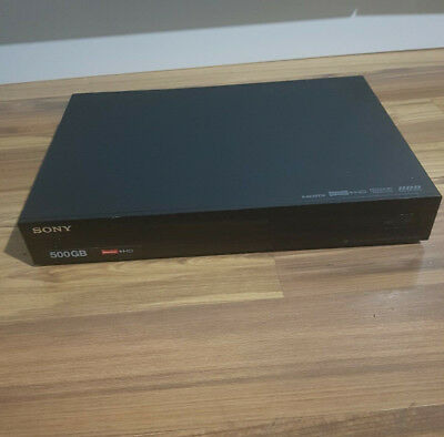 Sony SVR-HDT500 Twin Freeview HD Tuner Box 500GB HDD Recorder Receiver USB PVR