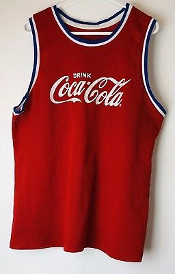 Coca Cola Singlet Size 14 Red Basketball unisex