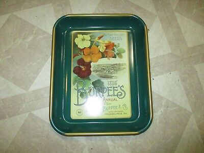 Very Nice BURPEE'S 1898 Farm Annual Seeds Advertisement Tin Tray