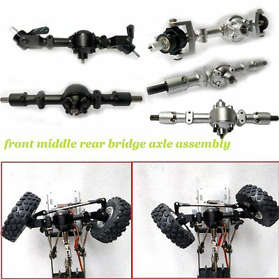 Metal Front Middle Rear Bridge Axle Spare Parts for WPL CNC General Military Car