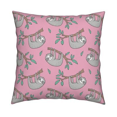 Sloth Sloths Animals Forest Throw Pillow Cover w Optional Insert by Roostery