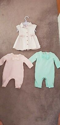 Baby girls baby baker outfits x 3
