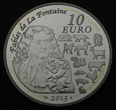 FRANCE 10 Euro 2013 Proof - Silver - Année du Serpent - 1672