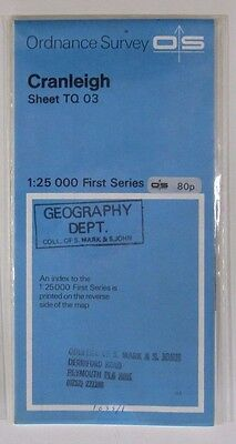1963 Old Vintage OS Ordnance Survey 1:25000 First Series Map TQ 03 Cranleigh