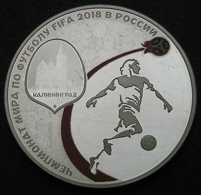 RUSSIA 3 Roubles 2018 Proof - Silver - FIFA World Cup - 1697