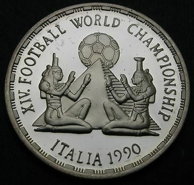 EGYPT 5 Pounds AH1410 / AD1990 Proof - Silver - Soccer Championship - 1754
