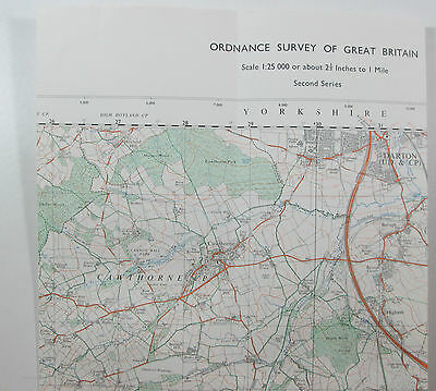 Old Vintage 1972 OS Ordnance Survey 1:25000 Pathfinder Map Barnsley SE 20/30