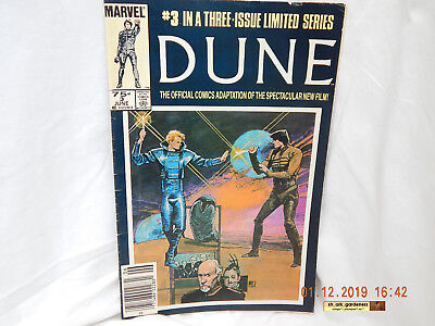 Marvel Comics-Dune #3-June 1985-Film Adaptation-Previously Owned-Enjoyed-As Is!
