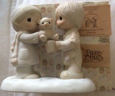 Precious Moments Christmastime Is for Sharing #E-0504 With Box And Tags