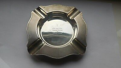 Heavy Solid Silver ashtray,  Birmingham,  Maker D.BROs , Year 1932, Weight 181 g