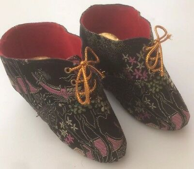 Genuine Chinese Embroidered Original Pattern Bound Feet Shoes 1999