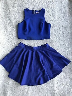 Cobolt Blue Two Piece Outfit Size L And 12