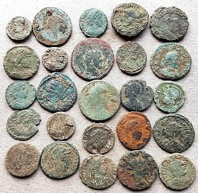 25 Very Good Unresearched Roman Coins, for cleaning and attribution.