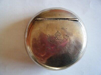 1908 Solid Silver Edwardian Squeeze Tobacco Snuff Box