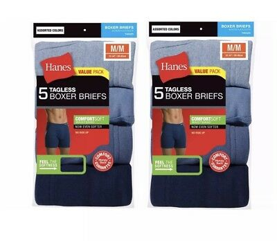 Hanes Boxer Briefs 10-Pack For Mens Assorted Colors