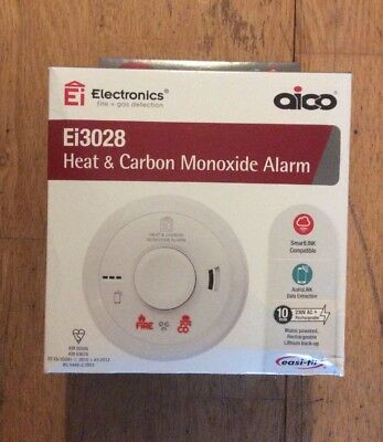 Aico Ei3028 Multi-Sensor Heat & Carbon Monoxide Alarm Lithium with AudioLINK New