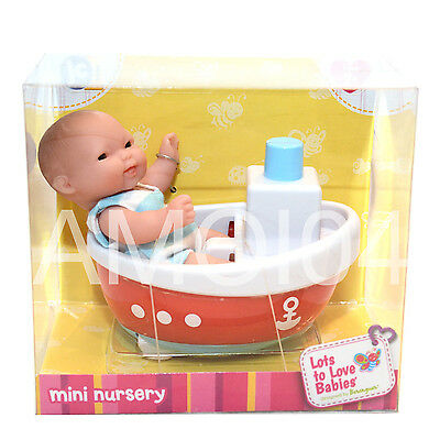 Berenguer Baby Doll Mini in Boat Tub Lots to Love Babies For Ages 2+ New