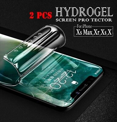 Flexible Hydrogel Screen Protector Film For iPhone Xs Max/Xr/Xs/X/6 6S 7 8 8+ CA