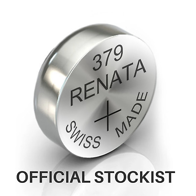 Renata 379 Watch Battery / Cell - Top Quality - SR521SW 1.55V Batteries Watches