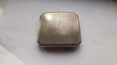 Solid Silver Cigarette Case, Birmingham, S.L and Co, Year 1925, Weight 114 g.