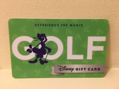 Disney Collectable Gift Card NV Mint Experience the Magic Golf Goofy Collectible