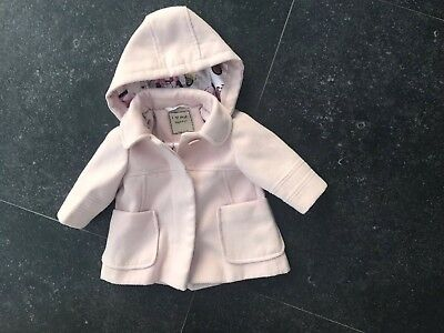Girls Pink Coat From Next 3-6 months Excellent Condition