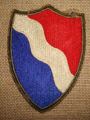 WW 2 U S Army Southern Defense Command  Cut Edge White Back Patch