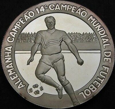 SAINT THOMAS & PRINCE 1000 Dobras 1990 Proof - Silver - Soccer-World Cup 2536 ¤