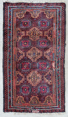 Tapis ancien rug oriental orient tribal ethnique Afghan Afghanistan Baluch 1900