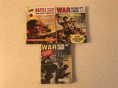 Vintage War Picture Library Comic Books