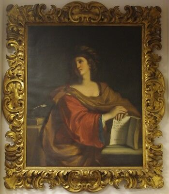 """# Superb Large Late 18Thc """"Sybilla Samia"""" Portrait After Guercino (1591-1666) #"""