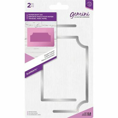 Crafter's Companion Gemini - Elements Die Set - Square Frames (2pc)